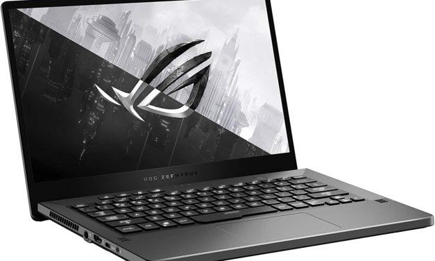 """<span class=""""promo"""">Promo 1399€</span> Asus ROG Zephyrus G14 GA401QE-HZ051T, PC portable 14""""144Hz nomade 7h pour jouer et créer RTX 3050 Ti Octo Core AMD"""