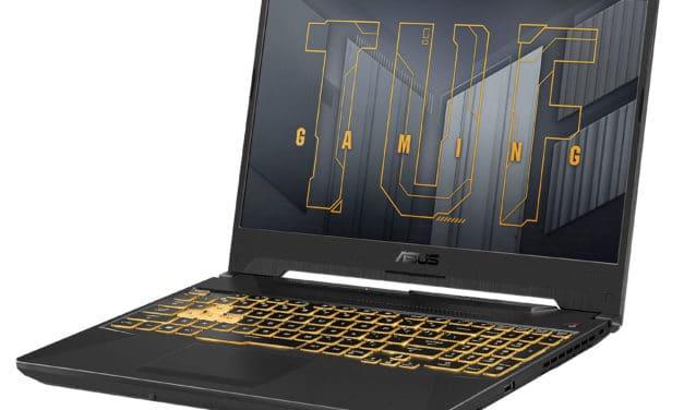 Asus F15 TUF566HC-HN082T, PC portable gamer 15 pouces puissant et polyvalent avec RTX 3050 (1299€)