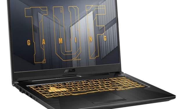 """<span class=""""promo"""">Promo 1199€</span> Asus TUF Gaming F17 TUF766HC-HX005T, PC portable 17"""" 144Hz pour créer et jouer RTX 3050 Tiger Lake-H TB4"""
