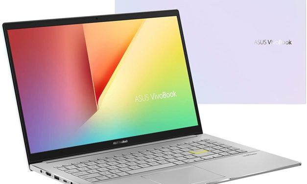 """<span class=""""promo"""">Promo 649€</span> Asus VivoBook S513IA-BQ649T, PC portable 15"""" blanc argent polyvalent AMD léger rapide et fin"""