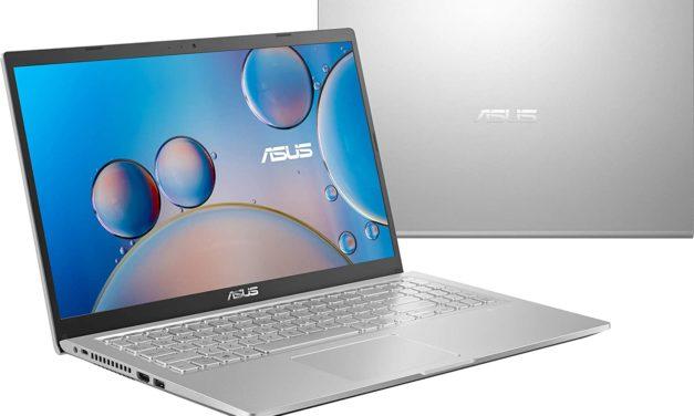 """Asus Vivobook R515JA-BQ1505T, Ultrabook 15"""" argent léger fin et rapide avec SSD 512 Go (629€)"""