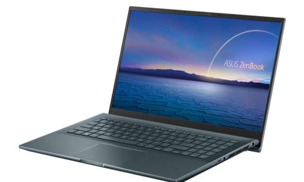Asus ZenBook UX535LI-E3140T, ultrabook 15 pouces polyvalent et élégant avec écran 4K pour créatifs (1619€)