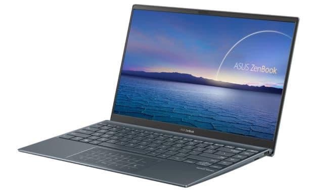 "Asus Zenbook UX425JA-BM157T, Ultrabook 14"" argent aluminium léger rapide et fin 10h Tiger Lake Iris Xe NumPad TB4 (799€)"
