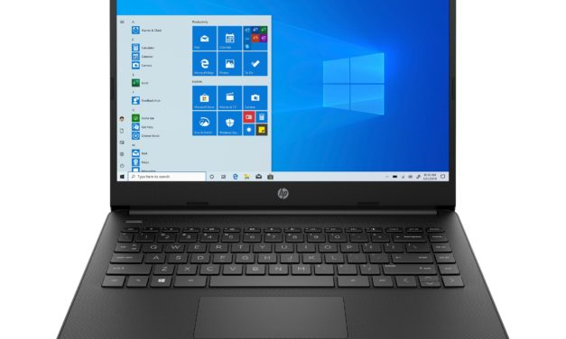 """HP 14s-fq0070nf, PC portable 14"""" noir bureautique pas cher léger rapide et fin avec SSD et USB-C (399€)"""