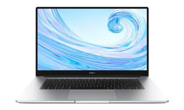 """<span class=""""promo"""">Promo 499€</span> Huawei Matebook D 15 2021, ultrabook 15 pouces pas cher et léger pour la bureautique"""