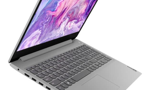 Lenovo IdeaPad 3 15IIL05, ultrabook 15 pouces pas cher, léger et rapide pour la bureautique (449€)