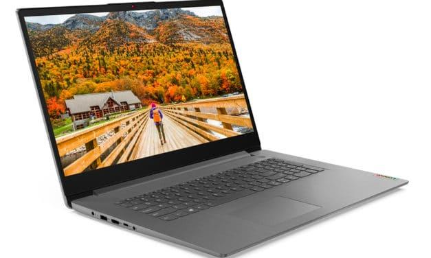 Lenovo IdeaPad 3 17ALC6, PC portable 17 pouces rapide et rapide avec Hexa Core (699€)