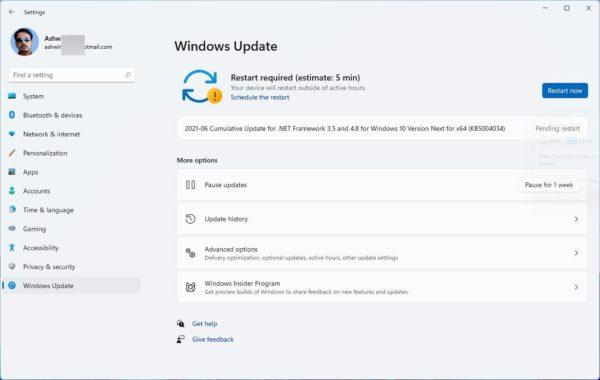 Windows 11 information temps mise a jour