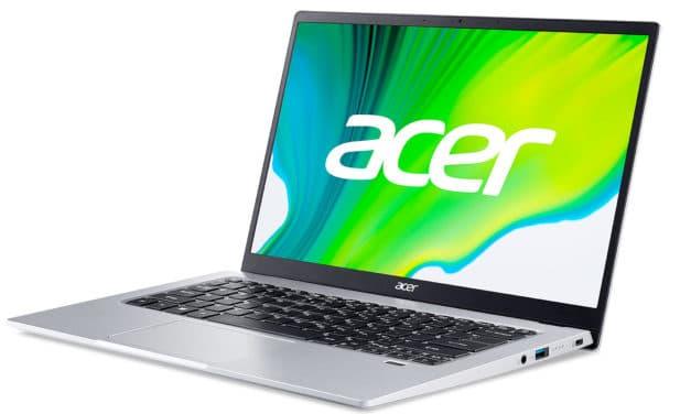 Acer Swift 1 SF114-34-C8FL, ultraportable 14 pouces rapide et silencieux (389€)