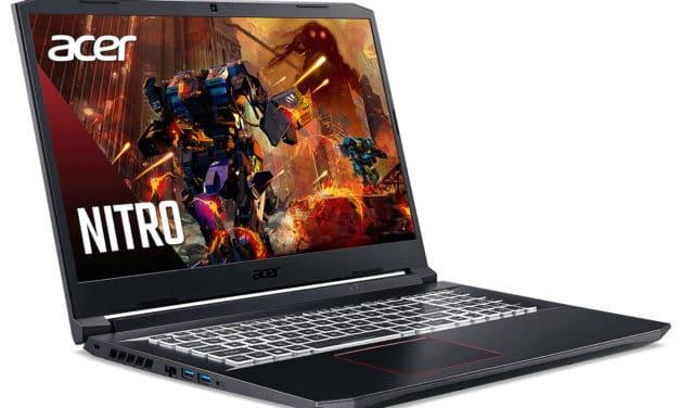 Acer Nitro AN517-41-R63V, PC gamer 17 pouces puissant jeu exigeant avec QHD 165Hz et RTX 3080 (2269€)