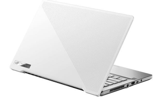 """Asus ROG Zephyrus G14 GA401QC-064T, PC portable 14"""" 144Hz blanc compact nomade 7h léger pour créer et jouer Ryzen 9 RTX 3050 (1349€)"""