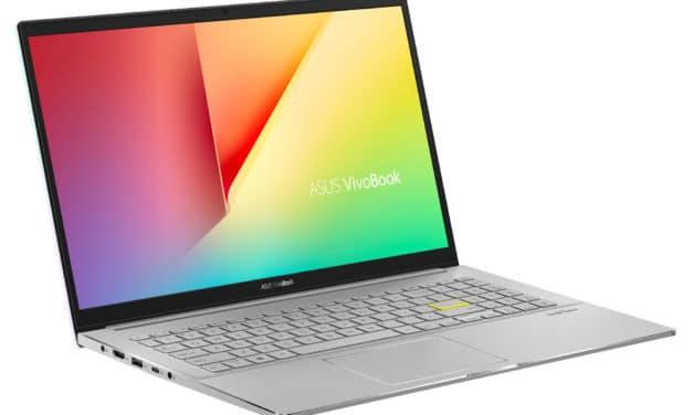 """Asus VivoBook S15 S533EA-BQ156T, Ultrabook 15"""" polyvalent argent léger rapide et fin avec Tiger Lake Iris Xe (899€)"""
