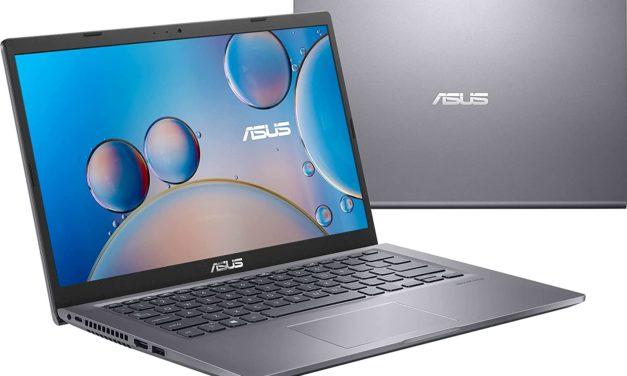 """Asus Vivobook R415JA-EB959T, Ultrabook 14"""" pas cher argent fin léger et rapide avec SSD (499€)"""