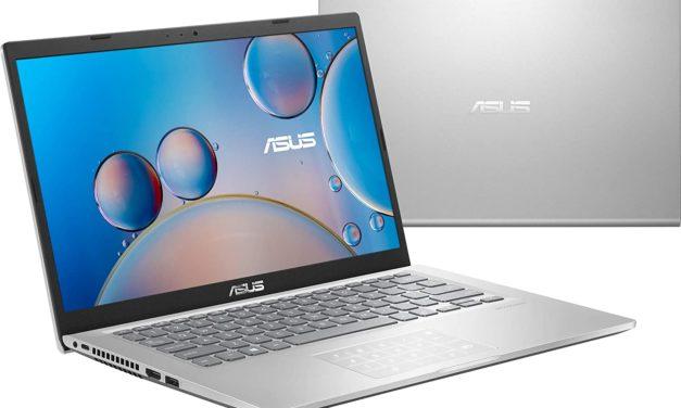 """Asus Vivobook R415JA-EK480T, Ultrabook 14"""" argent pas cher fin léger et rapide avec pavé numérique NumPad (539€)"""
