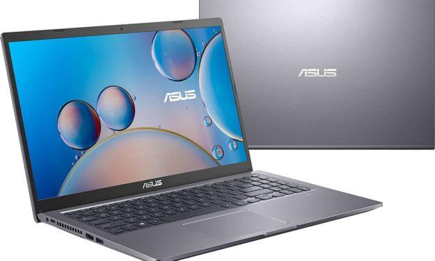 """Asus Vivobook R515EA-BR1293T, Ultrabook 15"""" pas cher argent polyvalent léger rapide et fin avec Tiger Lake (549€)"""
