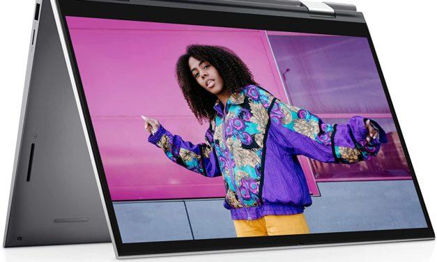 """Dell Inspiron 14 2-en-1 5410, Ultrabook 14"""" tactile Tablette polyvalent argent Intel Tiger Lake-H Quad Core léger fin et rapide (699€)"""