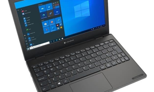Dynabook E10-S, ultraportable 11 pouces silencieux robuste ciblant le secteur de l'éducation sous Intel Gemini Lake Refresh