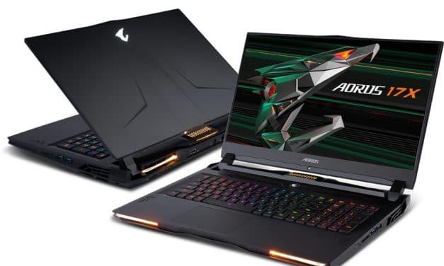 """Gigabyte Aorus 17X YD-94FR367SP, PC portable 17"""" 300Hz puissant haut de gamme RTX 3080 Tiger Lake-H Octo Core RAM 64 Go (3699€)"""