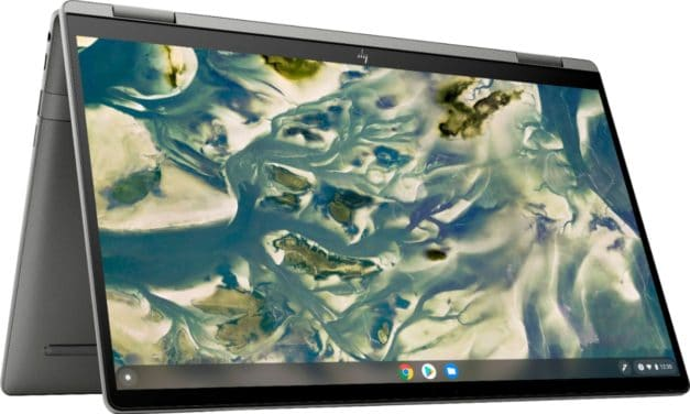 "HP Chromebook x360 14c-cc, PC portable 14"" 2-en-1 tactile Tablette 10h sous Chrome OS avec Intel Tiger Lake et Wi-Fi ax"