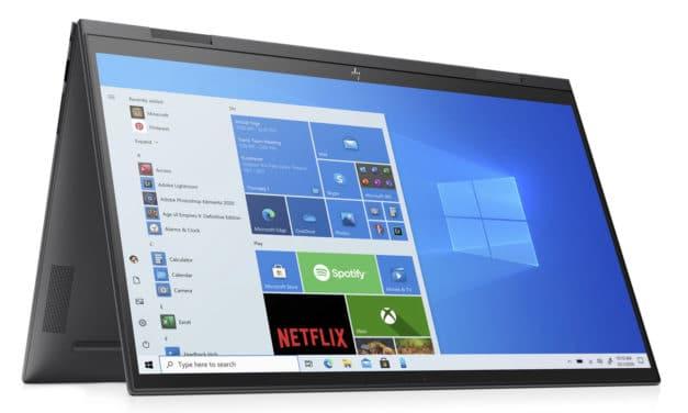 HP Envy x360 15-eu0016nf, ultrabook 15 pouces convertible tablette rapide pour le multimédia (949€)
