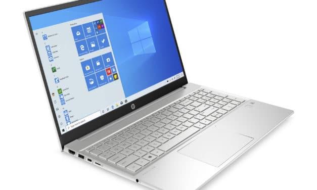 """HP Pavilion 15-eh1004nf, PC portable 15"""" polyvalent argent léger rapide et fin avec AMD Octo Core Ryzen et 16 Go de RAM (899€)"""