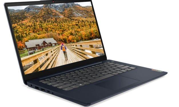 """Lenovo IdeaPad 3 14ADA6, 15ADA6 et 17ADA6, PC portable 14"""", 15"""" et 17"""" colorés modestes sous processeur AMD"""