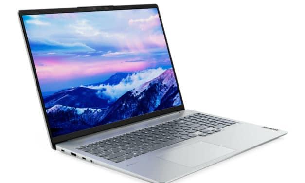 Lenovo IdeaPad 5 Pro 16IHU6, ultrabook 16 pouces sobre et polyvalent avec écran Retina 120Hz (1399€)
