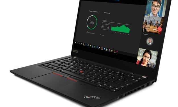 """Lenovo ThinkPad T14 Gen 2, PC portable 14"""" 4K sRGB noir AMD Cezanne nomade 13h fin et léger pour professionnels avec 4G"""