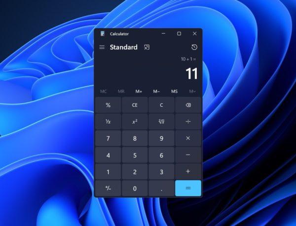 Windows 11 nouvelles apps calculatrice