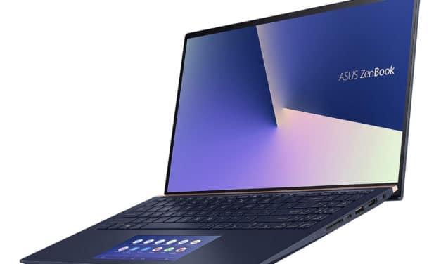 Asus Zenbook UX534FA-AA205T, ultrabook 15 pouces bleu et léger avec écran 4K (1199€)