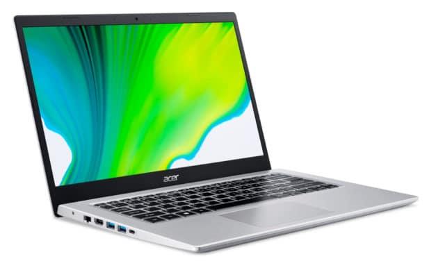 """<span class=""""nouveau"""">Nouveau 499€</span> Acer Aspire 5 A514-54-165, Ultrabook 14"""" argent pas cher polyvalent compact rapide fin et léger nomade 10h"""