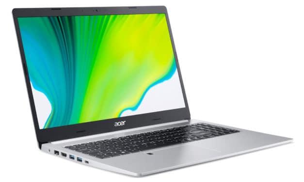 """Acer Aspire 5 A515-44-R5N2, PC portable 15"""" argent polyvalent pas cher fin rapide et léger nomade 7h (579€)"""