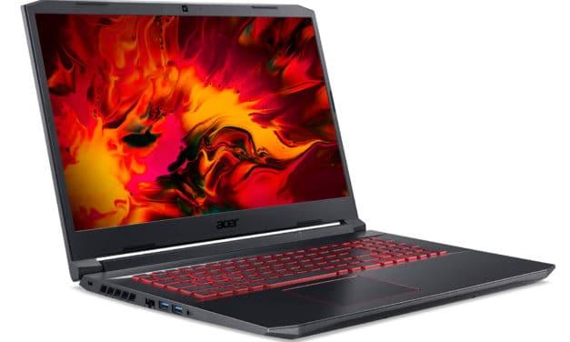 """<span class=""""nouveau"""">Nouveau 799€</span> Acer Nitro 5 AN517-52-52NG, PC portable 17"""" polyvalent noir rapide et léger avec GTX 1650 et Intel Quad Core"""