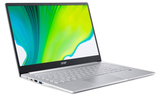 """<span class=""""promo"""">Promo 706€</span> Acer Swift 3 SF314-59-54XF, Ultrabook 14"""" polyvalent argent rapide fin et léger Tiger Lake Iris Xe RAM 16 Go nomade 9h"""