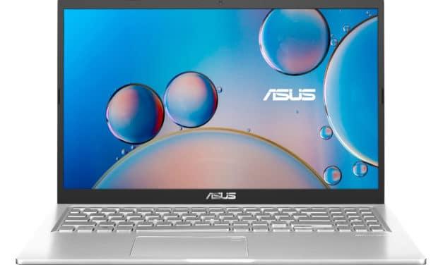 """<span class=""""nouveau"""">Nouveau 549€</span> Asus R515EA-BQ1277T, Ultrabook 15"""" polyvalent argent élégant pas cher léger rapide et fin avec Intel Tiger Lake"""