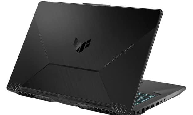 "Asus TUF Gaming F17 TUF706HM-HX105, PC portable 17"" 144Hz gamer créateur RTX 3060 Tiger Lake-H TB4 sans Windows (969€)"