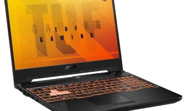 """Asus TUF Gaming FX505GT-HN004T, PC portable 15"""" polyvalent léger pour créer et jouer GTX 1650 (699€)"""
