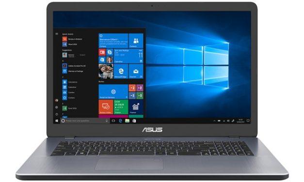"""<span class=""""nouveau"""">Nouveau 549€</span> Asus VivoBook 17 X705UA-BX1092T, PC portable 17"""" argent pas cher et léger avec SSD 512 Go et USB-C"""