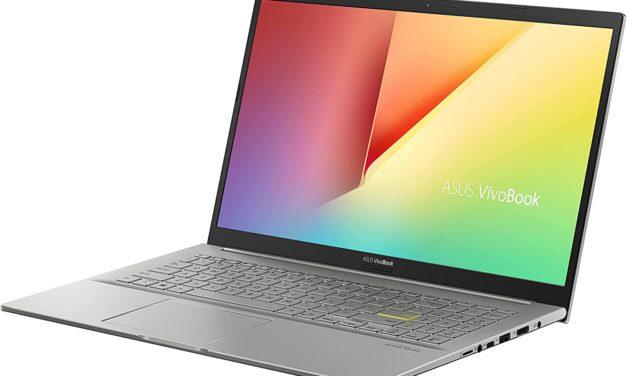 """Asus VivoBook K513EP-BN317T, Ultrabook 15"""" argent polyvalent léger rapide et fin avec Tiger Lake et NVIDIA (1352€)"""