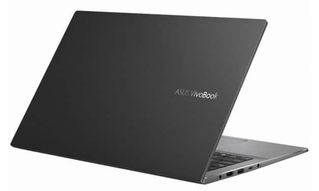 """Asus VivoBook S15 S533EA-BN1435T, Ultrabook 15"""" noir polyvalent léger fin et rapide avec Tiger Lake Iris Xe SSD 1 To (1099€)"""