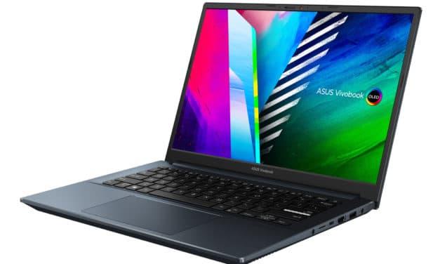 """Asus Vivobook Pro 14 S3400QA-KM029T, PC portable 14"""" OLED WQXGA+ 90Hz DCI-P3 AMD polyvalent léger fin rapide NumPad 8h (879€)"""