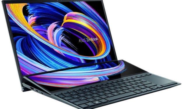 "Asus Zenbook Duo UX482EG-KA220T, Ultrabook 14"" tactile 2 écrans polyvalent léger 12h Tiger Lake RAM 32 Go ScreenPad TB4 (1579€)"