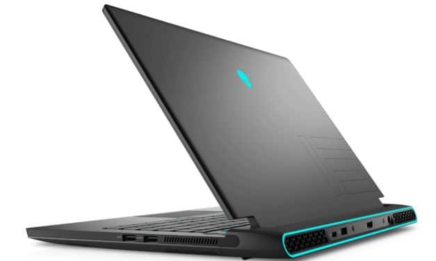 """Dell Alienware m15 R5, PC portable 15"""" QHD 240Hz DCI-P3 performant gamer créateur RTX 3070 Ryzen 9 RAM 32 Go (2269€)"""