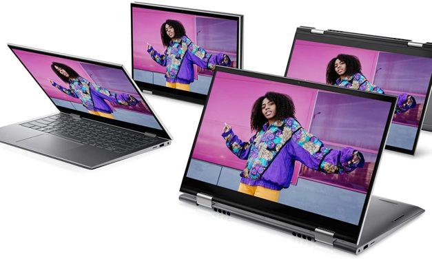 "Dell Inspiron 14 5410 2-en-1, Ultrabook 14"" tactile Tablette polyvalent argent fin léger rapide Tiger Lake Iris Xe (849€)"