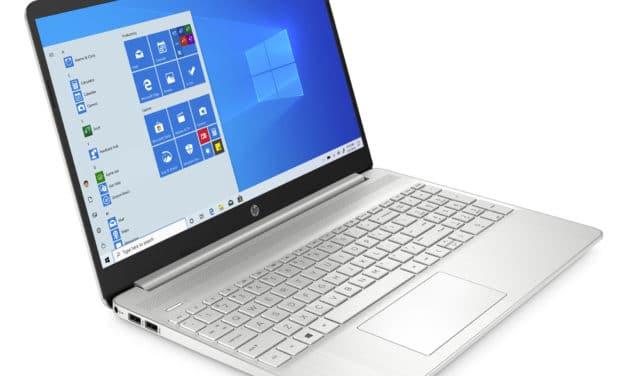 """HP 15s-eq1107nf, PC portable 15"""" argent AMD polyvalent fin léger et rapide (719€)"""