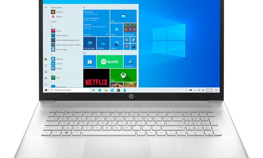 """<span class=""""nouveau"""">Nouveau 699€</span> HP 17-cp0221nf, PC portable 17"""" argent AMD polyvalent fin léger et rapide avec gros stockage 1.1 To"""