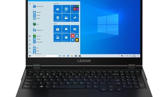 "Lenovo Legion 5 15IMH6, PC portable 15"" IPS 165Hz multimédia polyvalent noir avec NVIDIA Ampere GeForce RTX 3050 Ti et Intel Hexa Core"