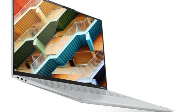 """Lenovo Yoga Slim 7 Carbon 14ACN6, PC portable 14"""" OLED 2.8K 90Hz DCI-P3 argent élégant AMD Cezanne nomade 14h fin et léger"""