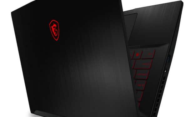 """MSI GF63 10SCSR-1631FR Thin, Ultrabook 15"""" 144Hz polyvalent fin et léger nomade 7h pour jouer et créer GTX 1650 Ti Hexa Core i5 (899€)"""