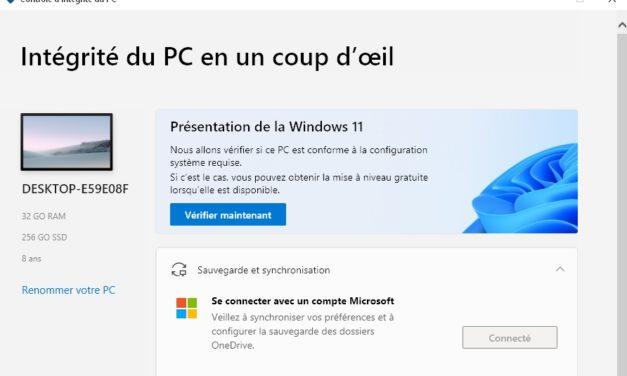 """<span class=""""tagtitre"""">Windows 11 - </span>Microsoft propose son outil de test de compatibilité PC Health Check pour tous les utilisateurs"""